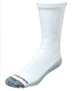 Wolverine Cotton Comfort Steel Toe Boot Sock, XL, White, 6 p
