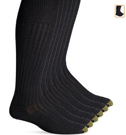 Gold Toe Men's Cotton Over-The-Calf Athletic Socks , Black,