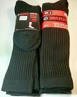Wolverine Cotton Over-the-Calf Boot Sock, Large, Black, 4 pr