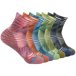 FUN TOES Women's Cotton Toe Socks-Breathable-6 PAIRS Pack-Si