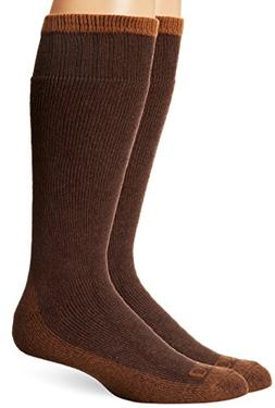 Dickies Men's 2 Pack Cotton Thermal Boot Crew Socks, Duck/Br