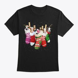 Cow-sock-merry Christmas Hanes Tagless Tee T-Shirt