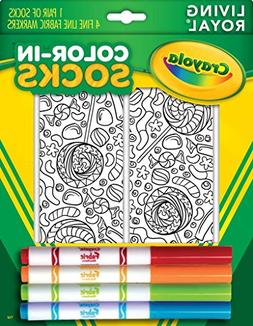 Kid's Crayola Color-In Socks - Includes 1 Pair Of Socks And