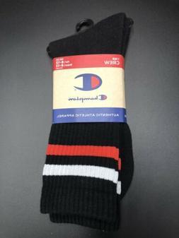 Champion Crew Black Socks Clife 1 Pair Men Size 6-12 Women S