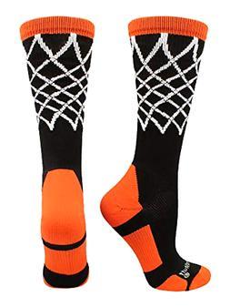 MadSportsStuff Crew Length Elite Basketball Socks with Net