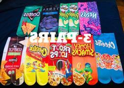 Crew Socks 3-Pair Funny Socks For Men/women  Colorful Design