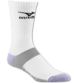 Mizuno Performance Crew Socks White Small