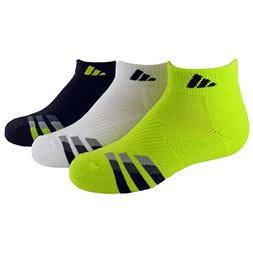 adidas Boys Cushion Low Cut Socks , Semi Solar Yellow/Black
