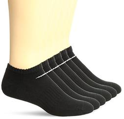 NIKE Unisex Performance Cushion No-Show Socks with Bag , Bla
