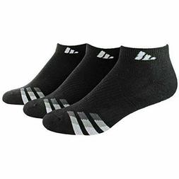 adidas Men's Cushioned Low Cut Socks , Black/White/Light Oni