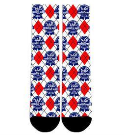 Custom PBR Pabst Blue Ribbon Crew Socks NEW