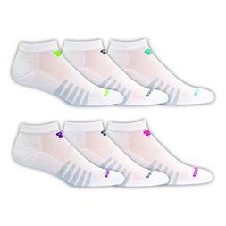 New Balance Low Cut Core Cotton 6 Pair Folder Socks, X-Large