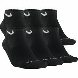 Nike Unisex Low Cut Black Socks 6 Pair Size M 6-8 W 6-10 Ret