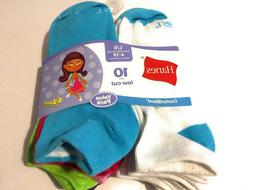 Hanes Girls Low Cut Socks - 10 Pack