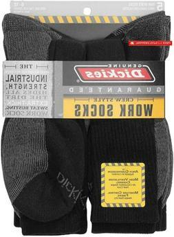 Dickies Genuine Mens 5-Pair Crew Work Socks