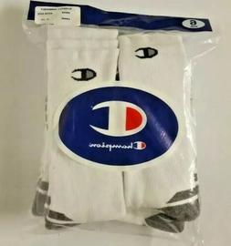 Champion Double Dry 6 Pack White Performance Men's CREW Sock