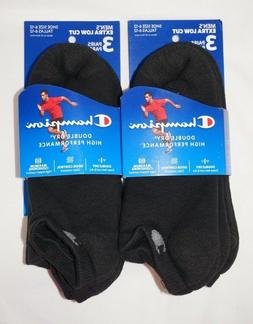 Champion Double Dry Performance Men's Black Extra Low Socks