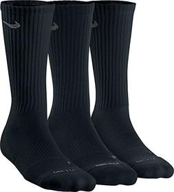 a190a5484 Nike Dri Fit Black Crew Socks, Youth Medium, 5Y-7Y