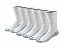 Dickies Dri-Tech Comfort Crew - Big & Tall, 6 pair, White wi