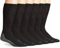 Dickies Dri-Tech Comfort Crew - Big & Tall, 6 pair, Black wi