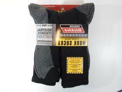 Dickies - Big and Tall Men's Dri Tech Crew Socks, 5-Pack