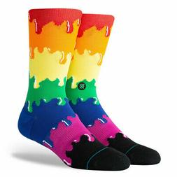 "Stance ""Drip Rainbow"" Classic Crew Socks  Men's Graphic Prin"