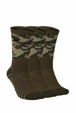 Nike Dry Crew 3 Pack Training Socks Green Camouflage SX7630-