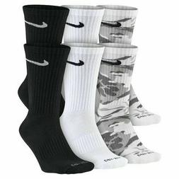NEW Nike Camo Dri-Fit Cushion Crew Socks 6 pairs Size 6-12 P