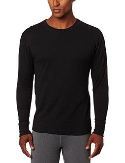 Duofold Men's Mid Weight Wicking Crew Neck Top, Black, XX-La