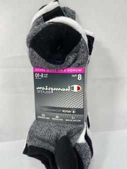 Champion Elite 8-Pairs Women's No Show Socks w/Vapor Technol
