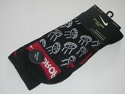 Nike Elite Basketball Crew Socks Droppin Dimes BLACK Large