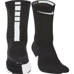 Nike Elite Basketball Socks Kids Shoe 3Y-5Y Black, 4-6, Crew