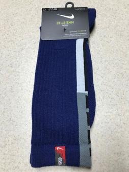 Nike Elite Crew Basketball Socks Kyrie Irving Blue SX7410 49
