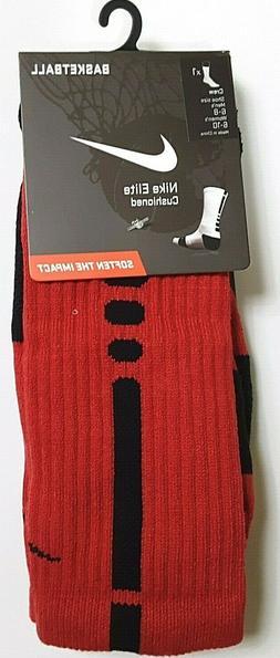 Nike Elite Crew Sock Red/Black M