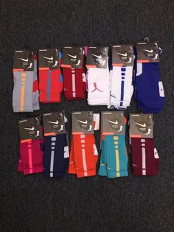 NIKE ELITE CUSHIONED CREW BASKETBALL SOCKS -SX3693 -Choose c