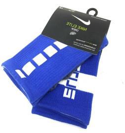 Nike Elite Cushioned Crew Drifit Basketball Socks Blue White