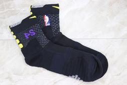 NIKE ELITE NBA Kobe 8 24 Lakers City Edition 1 PAIR SOCKS Si
