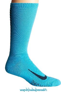 Nike Elite Running Cushion Chlorine Blue Crew Socks Unisex M