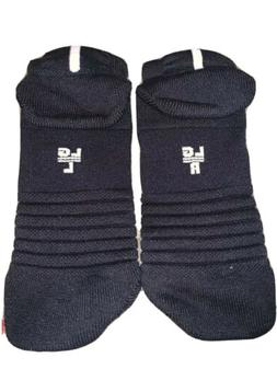 Nike Elite Socks Large Black/White One Pair Low Cut