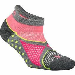 Balega Women's Enduro No Show Socks , Midgrey/Sherbet Pink,