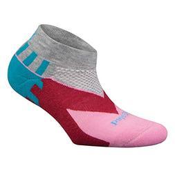 Balega Women's Enduro V-Tech Low Cut Socks , Grey/Pink, Smal
