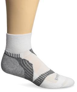 Balega Enduro V-Tech Quarter Socks, White/Grey, Medium