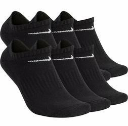 Nike Everyday Cotton Cushioned No Show Socks Black Large Uni