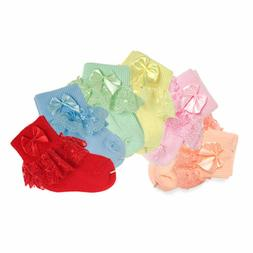 Fashion Baby Girls Cotton Summer Ruffles Socks Set for Newbo