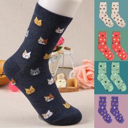 Fashion Women Lovely Cute Cat Socks Animal Cartoon Cotton So
