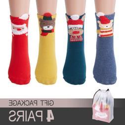 Fashion Women Thermal Socks Winter Warm Cute Cartoon Soft Co