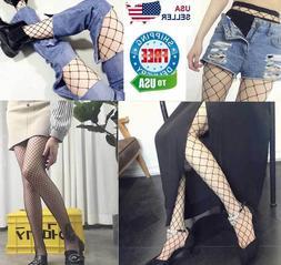 Fishnet Stockings Pantyhose Black Net Pattern Sock Fashion W
