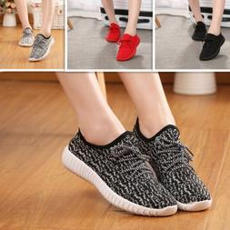 Flat Heel Women Running Athletic Sneakers Sock Breathable Ou
