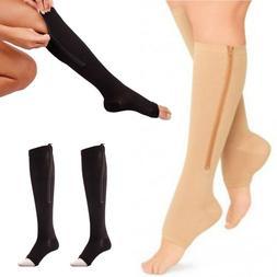<font><b>Zipper</b></font> Compression Zip Leg Support Knee