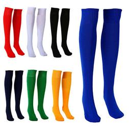 football plain long sock sport knee high